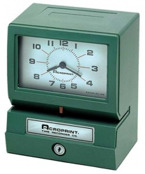 Acroprint Reloj Checador Mecánico 150QL4, Analógico, Verde