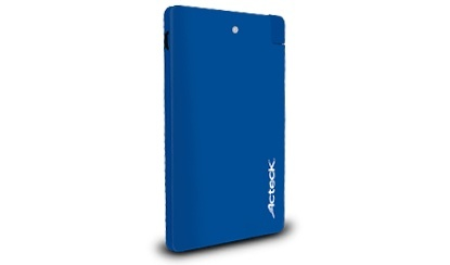Cargador Portátil Acteck Power Bank PB-250, 2500mAh, Azul