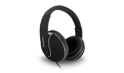 Acteck Audífonos HD-600, Alámbrico, 1.2 Metros, 3.5mm, Negro