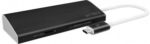 Acteck Docking Station C700 USB-C, 2x USB 3.0, 1x HDMI/1x RJ-45, Negro