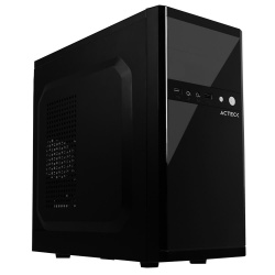 Gabinete Acteck G200, Midi-Tower, Micro ATX/Mini-ITX, USB 2.0, incluye Fuente de 500W, Negro