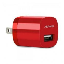 Acteck Cargador USB de Pared CD-002 Teck To Go, Rojo