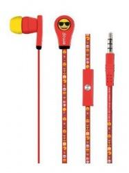 Acteck Audifonos Intrauriculares con Micrófono EM-02002, Alámbrico, 1.2 Metros, 3.5mm, Rojo