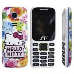 Celular Acteck Hello Kitty 1.77'', Sim Doble, Blanco
