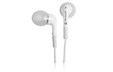 Acteck Audífonos Freevoice para Celulares Tipo Earbuds EC-290, Alámbrico, Blanco