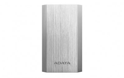 Cargador Portátil Adata Power Bank AA10050, 10.050mAh, Plata