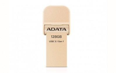 Memoria USB Adata AI920, 128GB, Lightning/ USB 3.0, Oro - para iPhone/iPad/iPod