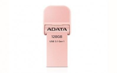 Memoria USB Adata AI920, 128GB, Lightning/ USB 3.0, Oro Rosado - para iPhone/iPad/iPod