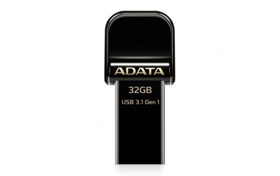 Memoria USB Adata AI920, 32GB, Lightning/ USB 3.0, Negro - para iPhone/iPad/iPod