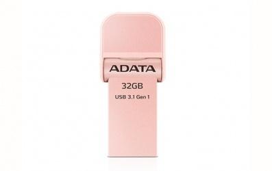 Memoria USB Adata AI920, 32GB, Lightning/USB 3.1, Oro Rosa - para iPhone/iPad/iPod
