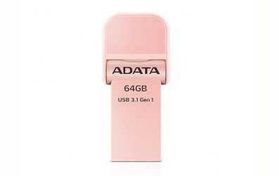 Memoria USB Adata AI920, 64GB, Lightning/ USB 3.0, Oro Rosa - para iPhone/iPad/iPod