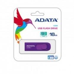 Memoria USB Adata C008, 16GB, USB 2.0, Morado