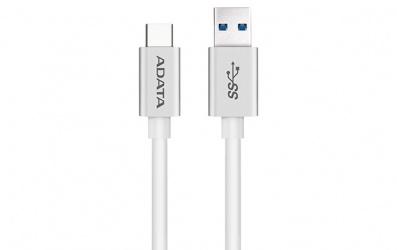 Adata Cable USB C Macho - USB A Macho, 1 Metro, Blanco
