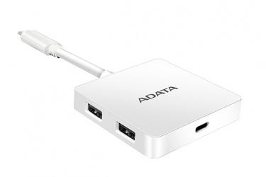 Adata Hub USB C 3.0 Macho - 4x USB A 3.0 Hembra, 5000 Mbit/s, Blanco
