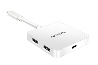 Adata Hub USB 3.0, 4 Puertos, 5000 Mbit/s, Blanco