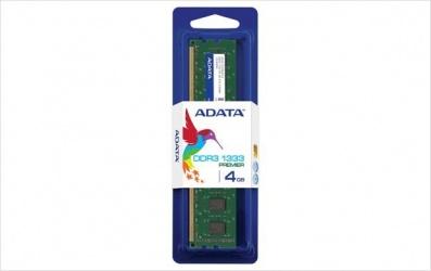Memoria RAM Adata U-DIMM DDR3, 1333MHz, 4GB, CL9