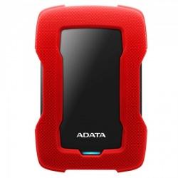 Disco Duro Externo Adata HD330 2.5'', 1TB, USB 3.1, Rojo/Negro, A Prueba de Golpes - para Mac/PC