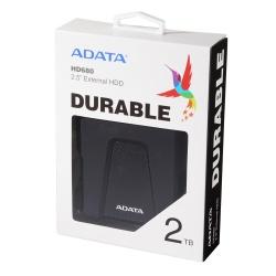 Disco Duro Externo Adata HD680, 2TB, USB, Negro - para Mac/PC