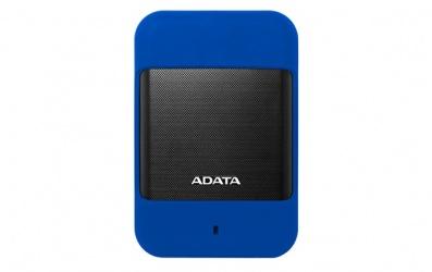 Disco Duro Externo Adata HD700, 2TB, USB 3.0, Azul/Negro, A Prueba de Agua, Polvo y Golpes - para Mac/PC
