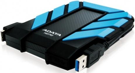 Disco Duro Externo Adata DashDrive Durable HD710 2.5'', 1TB, USB 3.0, 5400RPM, Azul, A Prueba de Agua y Golpes - para Mac/PC