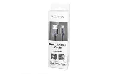 Adata Cable USB A 2.0 Macho - Lightning Macho, 1 Metro, Titanio