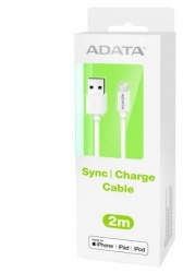 Adata Cable Lightning Macho - USB Macho, 2 Metros, Blanco