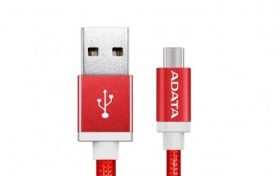 Adata Cable USB 2.0 A - Micro USB 2.0 B para Android/Windows, 1 Metro, Rojo