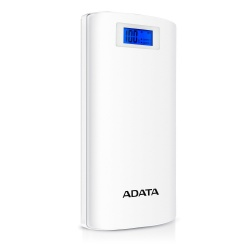 Cargador Portátil Adata Power BANK P20000D, 20000mAh, Blanco