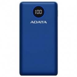Cargador Portátil Adata P20000QCD, 20.000mAh, Azul