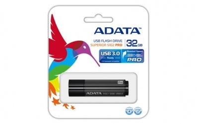 Memoria USB Adata S102 Pro, 32GB, USB 3.0, Negro