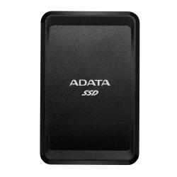 SSD Externo Adata SC685 Ultra Slim, 500GB, USB C, Negro, A Prueba de Golpes - para Mac/PC