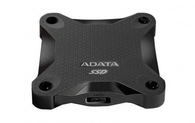 SSD Adata SD600, 256GB, USB C, Negro, A Prueba de Golpes