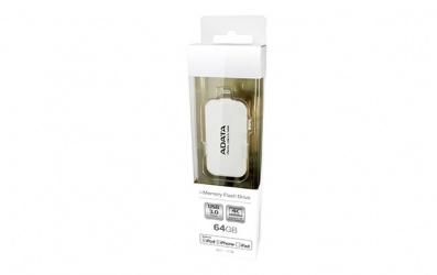 Memoria USB Adata UE710, 64GB, USB 3.0/Lightning, Blanco