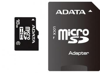 Memoria Flash Adata, 16GB microSDHC Clase 10, con Adaptador