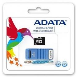 Memoria Flash Adata, 16GB microSDHC Clase, con Lector microReader V3
