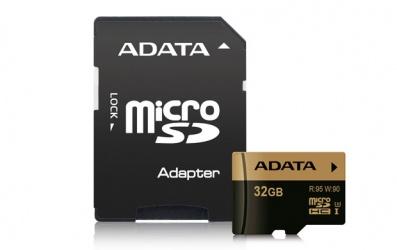 Memoria Flash Adata, 32GB MicroSDHC UHS-III Clase 10, con Adaptador