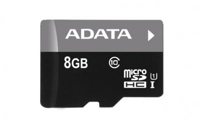 Memoria Flash Adata, 8GB microSDHC UHS-I Clase 10, con Lector microReader V3