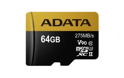 Memoria Flash Adata Premier ONE, 64GB MicroSDXC UHS-II Clase 10, con Adaptador