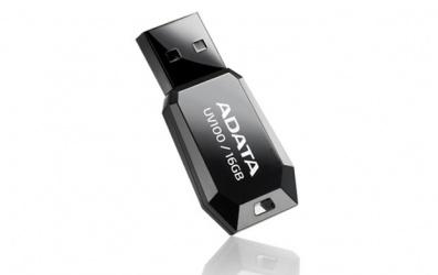 Memoria USB Adata DashDrive UV100, 16GB, USB 2.0, Negro