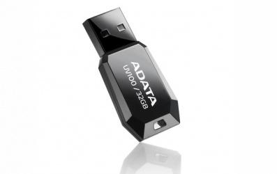 Memoria USB Adata DashDrive UV100, 32GB, USB 2.0, Negro