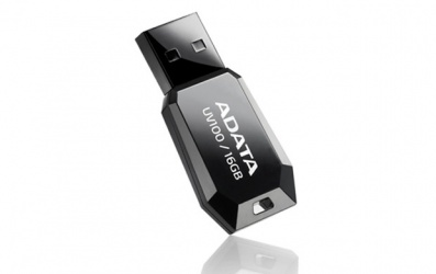 Memoria USB Adata DashDrive UV100, 8GB, USB 2.0, Negro