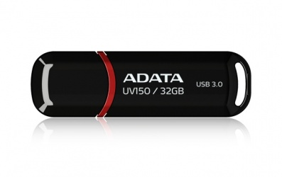Memoria USB Adata DashDrive UV150, 32GB, USB 3.0, Negro