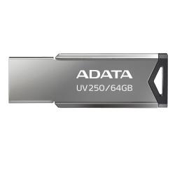 Memoria USB Adata UV250, 64GB, USB 2.0, Plata