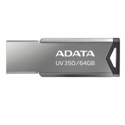 Memoria USB Adata UV350, 64GB, USB 3.0, Plata