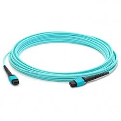 AddOn Cable Fibra Óptica Cruzado OM4 MPO Hembra - MPO Hembra, 50/125, 10 Metros, Azul