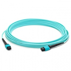 AddOn Cable Fibra Óptica Cruzado OM4 MPO Hembra - MPO Hembra, 50/125, 3 Metros, Azul