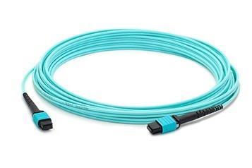 AddOn Cable Fibra Óptica Cruzado OM4 MPO Hembra - MPO Hembra, 50/125, 5 Metros, Azul