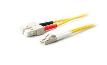 AddOn Cable Fibra Óptica Duplex OS2 LC Macho - SC Macho, 1 Metro, 9/125, Amarillo