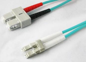 AddOn Cable Fibra Óptica Duplex OM3 SC Macho - SC Macho, 7 Metros, 50/125, Aqua