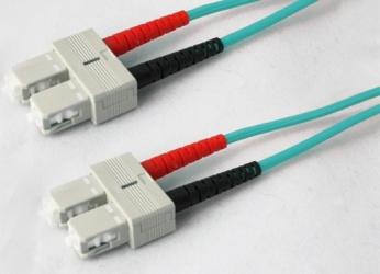 AddOn Cable Fibra Óptica Duplex OFNR SC Macho - SC Macho, 1 Metro, 50/125, Aqua